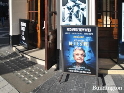 Blithe Spirit with Angela Lansbury at Gielgud Theatre from March 2014.