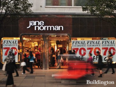 Jane Norman at 388-396 Oxford Street.