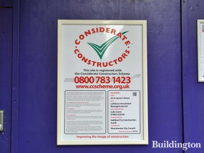 Considerate Constructors site at 55 St James's Street in May 2013.