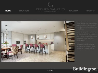 Screen capture of Chelsea Galleries website at www.chelseagalleries.co.uk in May 2013