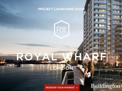 Screen capture of Royal Wharf development website at www.royalwharf.com in February 2014.