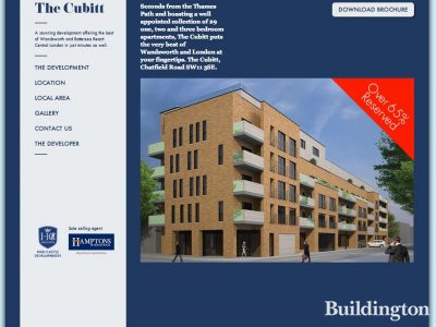 Screen capture of The Cubitt development website at www.thecubitt.com.