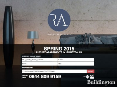 Screen capture of Regent Apartments website at www.regentapartments.co.uk