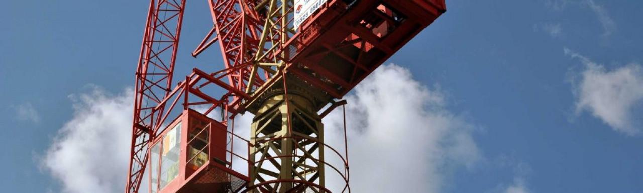 Crane at 18 Tregunter Road site.