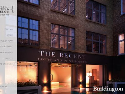 Screen capture of The Regent Lofts and Penthouses website at www.theregentpenthouses.com